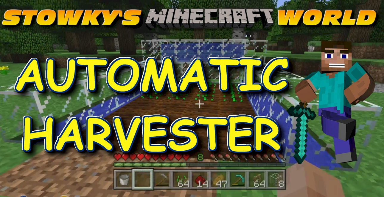 AUTOMATIC CROP HARVESTER FOR MINECRAFT GARDENS: I'm back in my Minecraft Xbox 360 World building an automatic crop harvester using redstone and sticky pistons. Learn how to build one step […]
