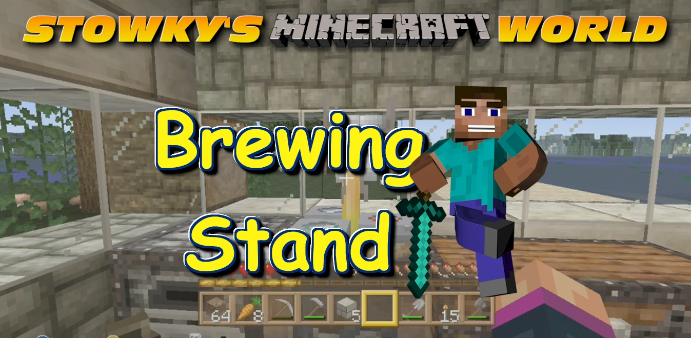 BREWING STAND CRAFTING: In this Minecraft video I will show you how to craft a brewing stand so lets get stowked and lets play Minecraft survival!